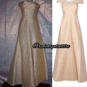 Aidan Mattox Jacquard A-Line Formal Gown